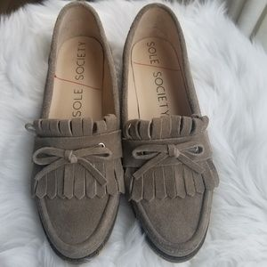 Sole Society Huxley taupe  loafer shoe